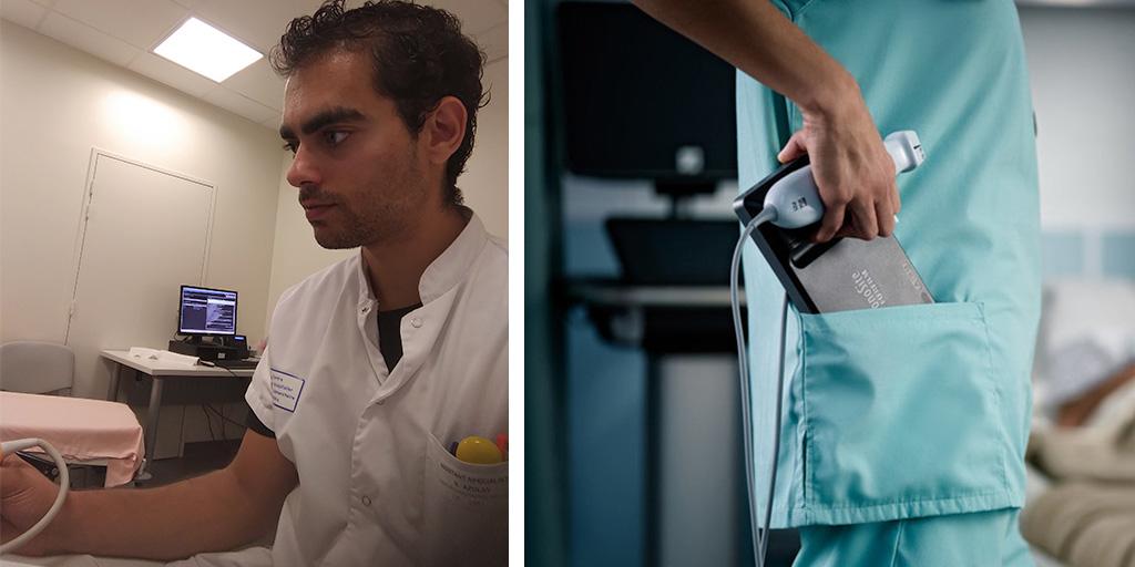Dr. Nicolas Azulay, general medicine doctor s the University Hospitals of Nice, France; Sonosite iViz