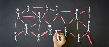 Leadership chalkboard