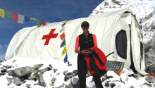 SonoSite ultrasound on Mt. Everest