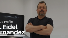 Dr Fidel Fernandez with Sonosite Ultrasound Machines