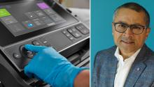 Sonosite PX control panel; Dr. Diku Mandavia, Chief Medical Officer of Fujifilm Sonosite