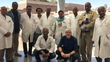 Dr. Norbert Pfeufer and his team of clinicians in a group shot in Eritrea