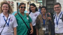 Sonographer Radha Persaud and her team in Guyana