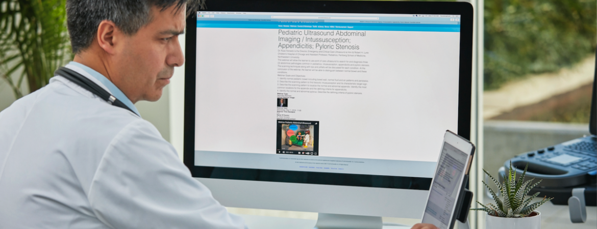 SonoSite education header image